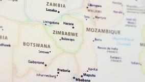 Zimbabwe en un mapa