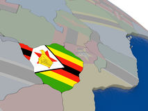 Zimbabwe with flag Stock Photography