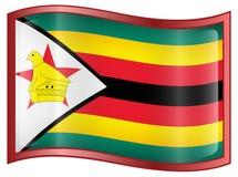 Zimbabwe Flag icon Stock Photography