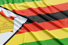 Zimbabwe flag Royalty Free Stock Images