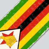 Zimbabwe grunge flag. Vector illustration. Royalty Free Stock Image