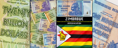Zimbabwe - Hyperinflation. Hyperinflation in Zimbabwe was a period of currency instability that began in the late 1990s. Zimbabwes peak month of inflation is Royalty Free Stock Image