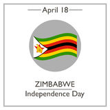 Zimbabwe Independence Day, April 18. Vector illustration for you design, card, banner, poster and calendar Royalty Free Stock Photo