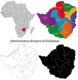 Zimbabwe-Karte Stockbild