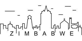 Zimbabwe konturu ikona Może używać dla sieci, logo, mobilny app, UI, UX royalty ilustracja
