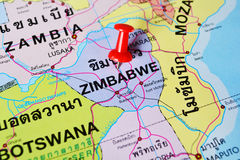 Zimbabwe map Royalty Free Stock Photo