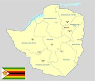 Zimbabwe map - cdr format Royalty Free Stock Photos