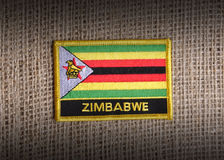 Zimbabwe-Markierungsfahne. Lizenzfreie Stockfotografie