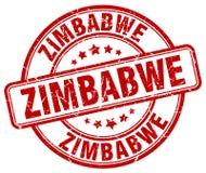 Zimbabwe red grunge round stamp. Zimbabwe red grunge round vintage rubber stamp Royalty Free Stock Image