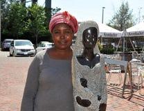 Zimbabwe sculptor Letwin Mugavazi Stock Photography