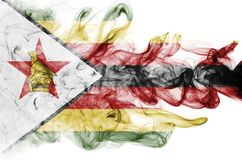 Zimbabwe smoke flag. Isolated on a white background Stock Photo