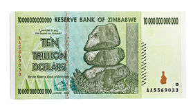 Zimbabwe ten trillon dollars Royalty Free Stock Photography