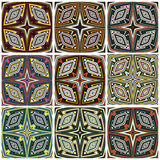 Zimbabwe textile pattern Set Stock Photos