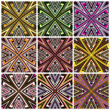 Zimbabwe textile pattern Set Royalty Free Stock Photos