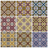 Zimbabwe textile pattern Set Royalty Free Stock Images