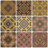 Zimbabwe textile pattern Set Stock Photo