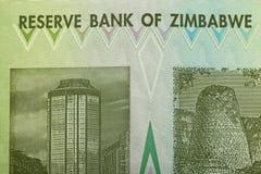 Zimbabwe tjugo miljard dollar sedel Royaltyfri Foto