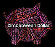 Zimbabwean Dollar Shows Forex Trading And Coin Royalty Free Stock Images