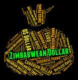 Zimbabwean Dollar Shows Worldwide Trading And Banknotes Stock Photography