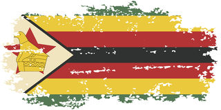 Zimbabwean grunge flag. Vector illustration. Stock Photos