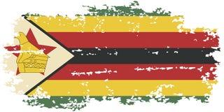 Zimbabwean grunge flag. Vector illustration. Stock Photos