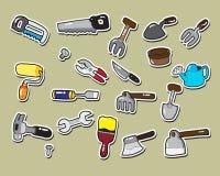 Zimmerei- und Gartenarbeitwerkzeug Lizenzfreie Stockbilder