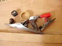Zimmereiwerkzeuge lizenzfreie stockfotografie