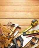 Zimmereiwerkzeuge Lizenzfreie Stockbilder