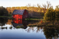 Zimmerman Barn. The famous sinking barn outside of Zimmerman Minnesota Royalty Free Stock Images
