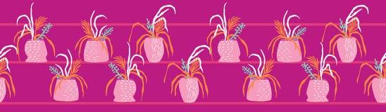 Zimmerpflanze-Topf-nahtlose Vektor-Grenze r stock abbildung