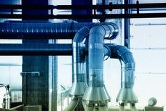 zimna abstrakcyjna fabryczna maszyna Obraz Royalty Free