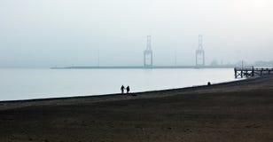 Zimna afekcja morze Fotografia Stock