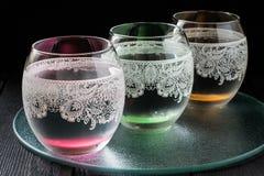 Zimna czysta woda mineralna Fotografia Royalty Free