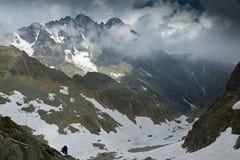 Zimna dolina w Wysoki Tatrzańskim Obraz Royalty Free