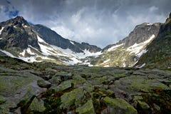 Zimna dolina w Wysoki Tatrzańskim Fotografia Stock