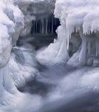 zimna dzień sopli gwałtownych zima Obrazy Royalty Free