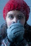 Zimna kobieta Zdjęcia Royalty Free