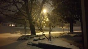 zimna noc zimy Obrazy Royalty Free