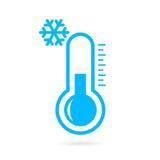 Zimna pogoda termometru ikona ilustracji