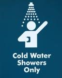 zimna prysznic znaka woda Obrazy Stock