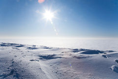 zimna pustyni lód obraz stock