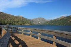Zimna woda jezioro góry St Helens stan washington Obraz Royalty Free