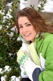 zimne dni jasno uśmiech Obrazy Stock
