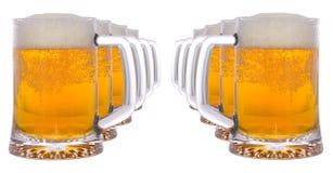 zimne piwo szkła Fotografia Stock