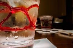 zimne szklanki mrożonej wody Fotografia Royalty Free
