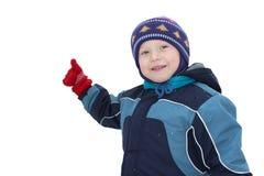 Zimne zimy i chłopiec Obraz Stock