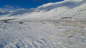 Zimni śnieżni skłony w Iceland zdjęcia stock