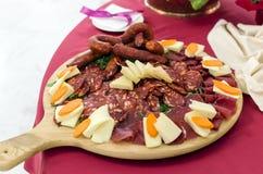Zimni cięcia wieprzowina, korzenny Calabrian pokrojony Zdjęcie Royalty Free