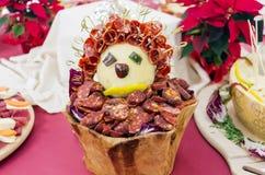 Zimni cięcia wieprzowina, korzenny Calabrian pokrojony Zdjęcie Stock
