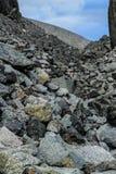 Zimni północni szarość kamienie Naturalny tło obrazy stock